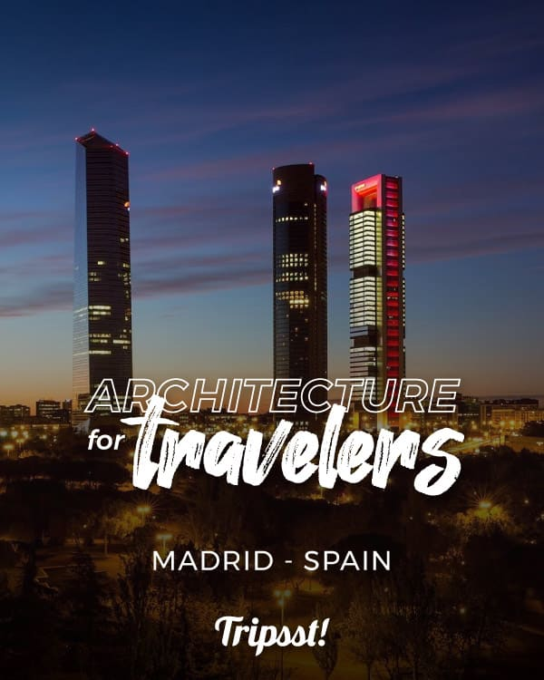 Modern architectural structure of the City of Madrid Spain