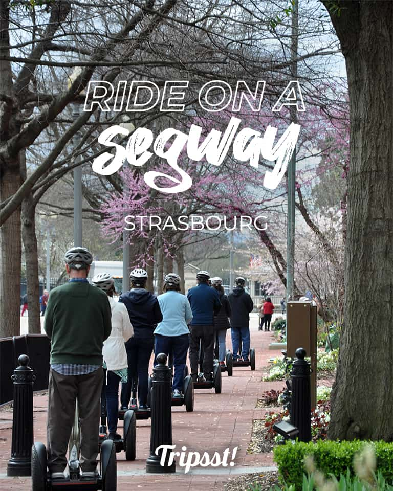 Ride through the city on a segway