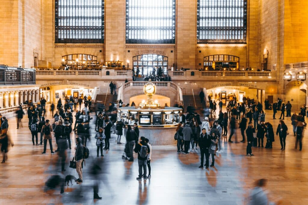 people walking on the Grand Central Station