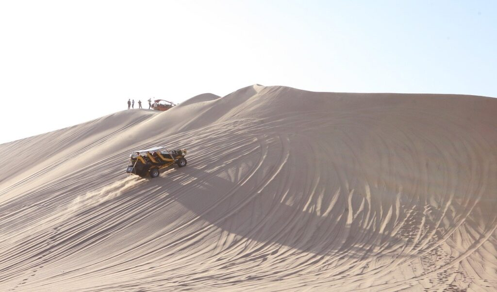 a buggy in a dune
