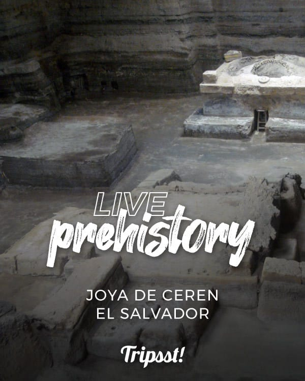 the Jewel of Ceren is a Mayan village declared by UNESCO as cultural heritage of humanity