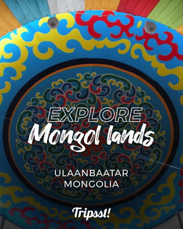 Colorful dome tops a Mongol ger