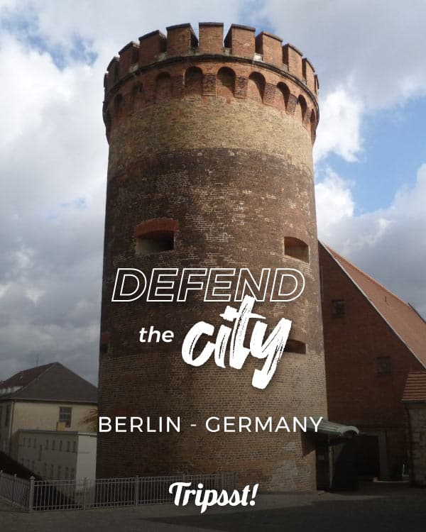 Brick-built round tower stands in the heart of a citadel