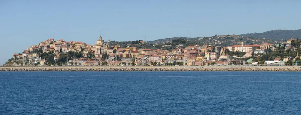 Panoramic view of Imperia's oldest section, Porto Maurizio
